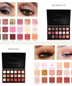 FOCALLURE 18 Colors Glitter Eyeshadow Shimmer Pigment Palette Cosmetics Glitter Eye Shadow Makeup Beauty 1