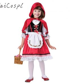 Fantasia Little Red Riding Hood Cape Child Kid Carnival Fancy Christmas Halloween Cosplay Costume Fancy Disguise Dress For Girl