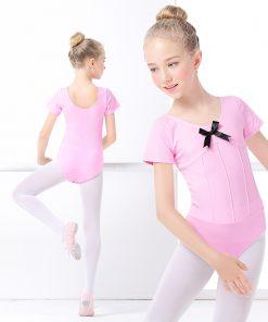 Cotton Spandex Ballet Dancing Clothes Dance Wear Cute Gymnastics Leotard Girls Straps Ballet Leotards For Kids