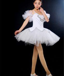 2017 Adult Professional Ballet Tutus Dress Women Black White Swan Costumes Performance Platter tutu Ballerina Ballet Outfit