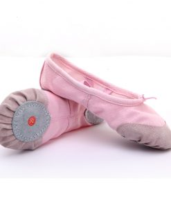 Pointe Shoes Ballet Pink Ballet Shoes for Girls Children Soft Split Sole Canvas Ballet Dance Shoes Kids White black Red color