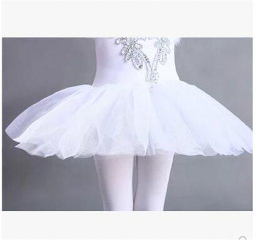Children Swan Lake Ballet Costume Girl White Ballet Dress Dancewear  Kids Ballet Outfit 2