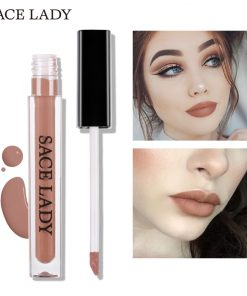 SACE LADY Ultra Matte Lipstick Long Lasting Lip Gloss Kit Waterproof Pigment Mate Makeup Liquid Tint Set Red Lipgloss Cosmetic