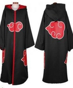 DJGRSTER Hot Sale Anime Naruto Akatsuki /Uchiha Itachi Cosplay Halloween Christmas Party Costume Cloak Cape Cosplay Cloak Hooded 1