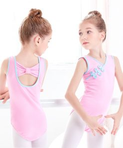 Sleeveless Ballet Dancewear Leotards Chinese Knot Buttons Girls Balllet Gymnastics Dance Leotards 1