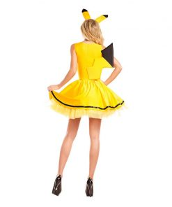 Pikachu Costume Halloween Women Fancy Dress Sexy Cute Anime Cosplay Party Wear Girls Holiday Festival Dance Clothes For Adult 1