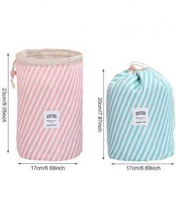 Mihawk Barrel-shaped Cosmetic Bag Women's Beauty Case Makeup Storage Special Purpose Bags Female Toiletry Pouch Supplies Product 1