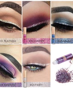 FOCALLURE New Arrivel 5 Colors Glitter Eyeliner Eyeshadow For Easy to Wear Waterproof Liquid Eyeliner Beauty Eye Liner Makeup 1
