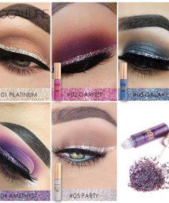 FOCALLURE New Arrivel 5 Colors Glitter Eyeliner Eyeshadow For Easy to Wear Waterproof Liquid Eyeliner Beauty Eye Liner Makeup 1
