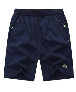 New Summer Solid Leisure Men Shorts Casual Quick-Drying Short Trousers Loose Elastic Waist Short Big Size 6XL,7XL,8XL,9XL 1