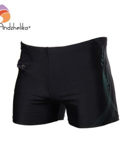 Andzhelika 2018 New Men Breathable Men's Swimsuits Swimming Trunks Sport Briefs Swim Suits Maillot De Bain Zipper Beach Shorts 1