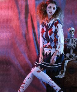DJGRSTER 2018 Women's Bloody Student Costumes For Halloween Scary Bloody Mary Students Roleplay Student Uniforms Cosplay Costume 1
