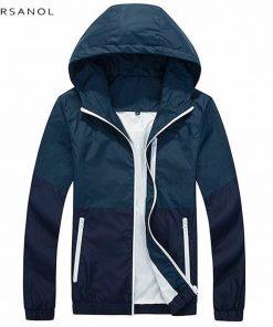 Varsanol Spring Jacket Men Windbreaker 2018 Autumn Fashion Jacket Men's Hooded Casual Jackets Male Coat Thin Men Coat Outwear  1