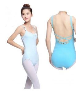 Ballet Double Coverall Spaghetti Strap Back Weave flower Adult Leotard Dance Clothes