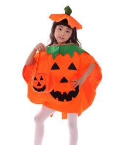 DJGRSTER 2017New Party Supplies Cosplay Halloween Pumpkin Costume Adult Child Clothes  hat suit  Tor Family Halloween 1