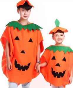 DJGRSTER 2017New Party Supplies Cosplay Halloween Pumpkin Costume Adult Child Clothes  hat suit  Tor Family Halloween