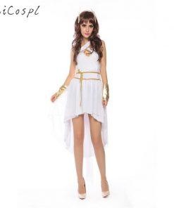 Greek Goddess Cosplay Costume Halloween Women Adult Dress Sexy White Angel Fantasias Party Wear Stage Performance Girs Disguise