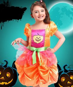 DJGRSTER Fancy Girls Puff skirt Pumpkin Dresses Halloween Cosplay Movie Anime Masquerade Party Children Christmas Gift Costumes