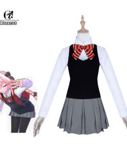 ROLECOS Fate Apocrypha Cosplay Costume Astolfo FATE EXTEELA LINK Game Cosplay Japanese School Uniform for Women FGO Full Sets