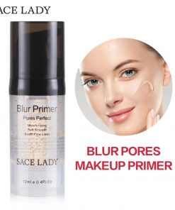 SACE LADY Blur Primer Makeup Base 6ml Face 24k Gold Elixir Oil Control Professional Matte Make Up Pores Brand Foundation Primer 1