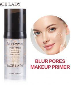 SACE LADY Blur Primer Makeup Base 6ml Face 24k Gold Elixir Oil Control Professional Matte Make Up Pores Brand Foundation Primer 1