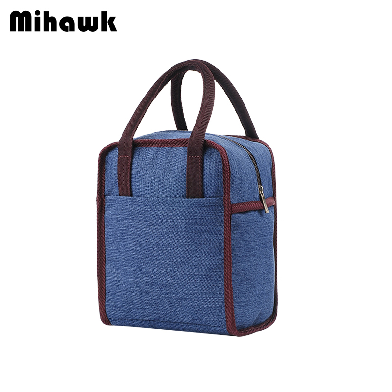 Mihawk Oxford Lunch Bags Picnic Pouch Drink Food Hand Tote Easy Carrying Insulated Cooler Accessories Product Gear Items Stuff