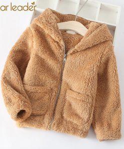 Bear Leader Kids Coats 2018 New Winter Fashion Casual Unisex Coats Lamb Zipper Full Sleeve Children Coats For 3T-7T