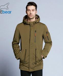 ICEbear 2018 Trench Coat For Men Adjustable Waist Hat Detachable Autumn Men New Casual Medium Long Brand Coats 17MC017D 1