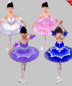 New Girls Pancake tutus Dance Costumes Child Professional Platter tutu Ballet Dress