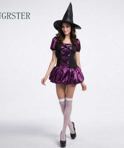 DJGRSTER 2018 Halloween Witch Costumes Christmas Carnival Clothing Fantasia Infantil Adult Fairy Costume Vampire Cosplay Dress 1