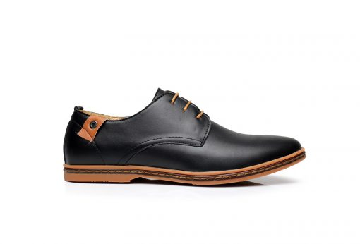 DADIJIER New 2017 Men Leather Shoes Casual Lace-up Shoes Black Brown Flat Cheap Leather Loafers Oxford shoes ST52 1