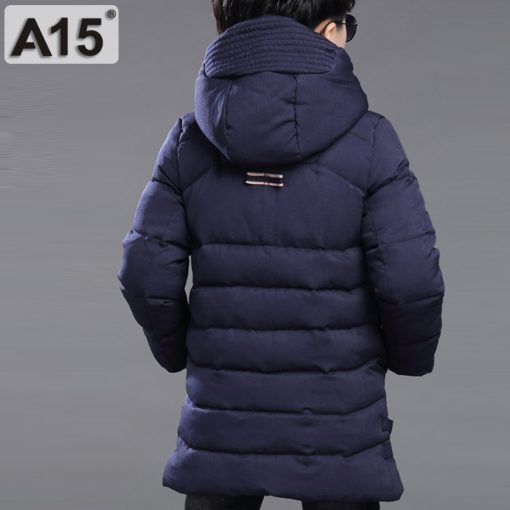 Kids Winter Jacket for Boys Clothes 2018 Teenage Boys Clothing Parkas Warm Jacket Hooded Coats Children Size 8 10 12 14 16 Years 2