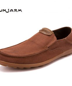 JUNJARM Men Casual Shoes 2018 Fashion Men Loafers Moccasins Slip On Men's Flats Loafers Male Footwear Big Size 38-47