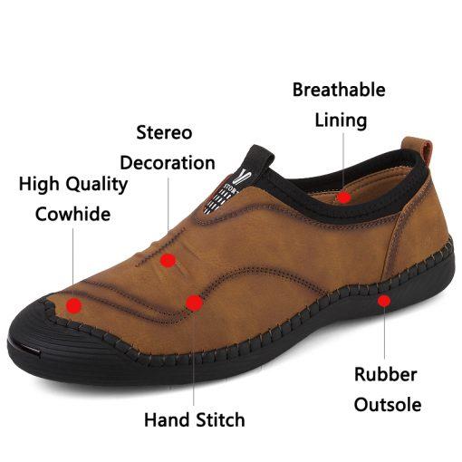 JUNJARM 2018 Spring Handmade Men Casual Shoes Brand Men Loafers Breathable Microfiber Men Flats High Quality Slip-on Men Shoes 2