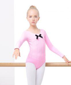 Cotton Spandex Ballet Dancing Clothes Dance Wear Cute Gymnastics Leotard Girls Straps Ballet Leotards For Kids 1