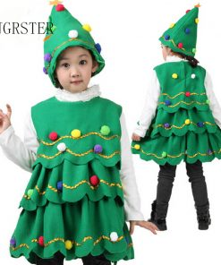 DJGRSTER Free shipping fancy dress, pretty princess Kids Girl's Christmas tree clothesStage costumes,Child Christmas costumes, f