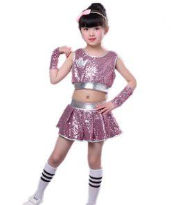 Children Jazz Dance Performance New Sleeveless Street Dance Navel Suit