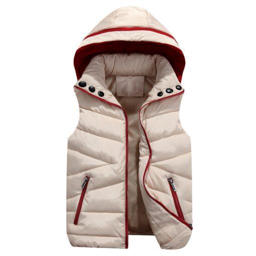 2018 NEW Autumn Winter Men Warm Vest Detachable Cap Cotton Femme Sleeveless Jacket Casual Cardigan Waistcoat 3XL 4
