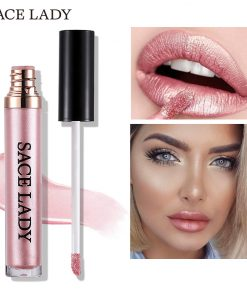 SACE LADY Metal Lipstick Waterproof Matte Makeup Liquid Lip Gloss Tint Long Lasting Lipgloss Glitter Paint Make Up Cosmetic