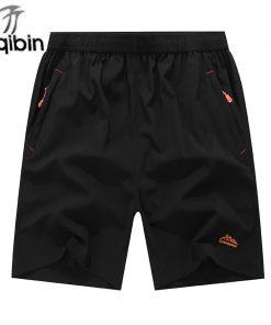 New Summer Solid Leisure Men Shorts Casual Quick-Drying Short Trousers Loose Elastic Waist Short Big Size 6XL,7XL,8XL,9XL