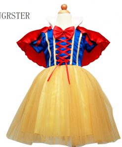DJGRSTER Girls Snow White Princess Dresses Kids Girls Halloween Party Christmas Cosplay Dresses Costume Children Girl Clothing