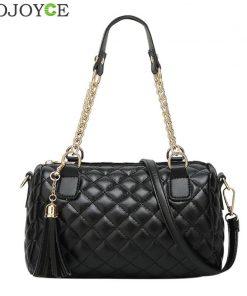 Women Crossbody Bags Female Handbag Famous Brands Luxury Leather Tassel Bags Chain Shoulder Plaid Lady Messenger Bag sac femme
