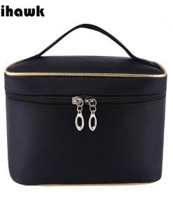 Mihawk Barrel-Shaped Make Up Bags Beauty Case Cosmetic Gadget Makeup Storage Zipper Pouch Women Toiletry Organizer Supplies Gear