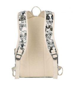 Set Backpack Women Animal Owl Printing Backpack Canvas Bookbags School Backpacks Bags for Teenage girls Bagpack Backbag 1