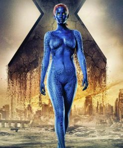 X-men Film Mystique 3D Print Cosplay Costume BLue Print Spandex Halloween Cosplay Costume