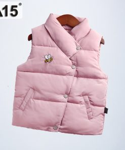 A15 Kids Vest Boys Spring Waistcoats Vest for Girls Baby Toddler Clothes Winter 2018 Children Sleeveless Jacket Size 6 8 10 Year 1