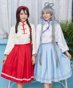 DJGRSTER 2018 New Style Anime Vocaloid V China Luotianyi/China Yuezheng Ling Cosplay 2 Colors Los Angeles Press Cosplay Costumes