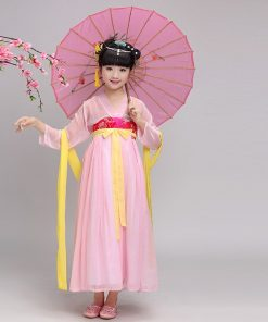 DJGRSTER New Child Girl Ancient Chinese Traditional National Costume Hanfu 4 Colors Tang Dress Princess Children Hanfu Dresses