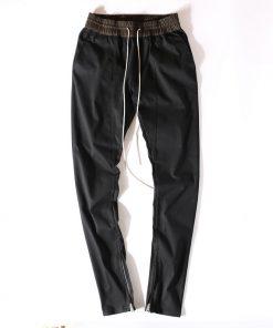 HIPFANDI Newest Hip Hop Men fear of god fog justin bieber style skinny slim long stripe zippers pants jogger in  kanye west 1