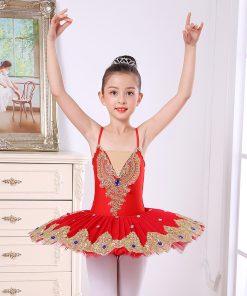Little Swan Dance Skirt Ballet Performance Costume 1